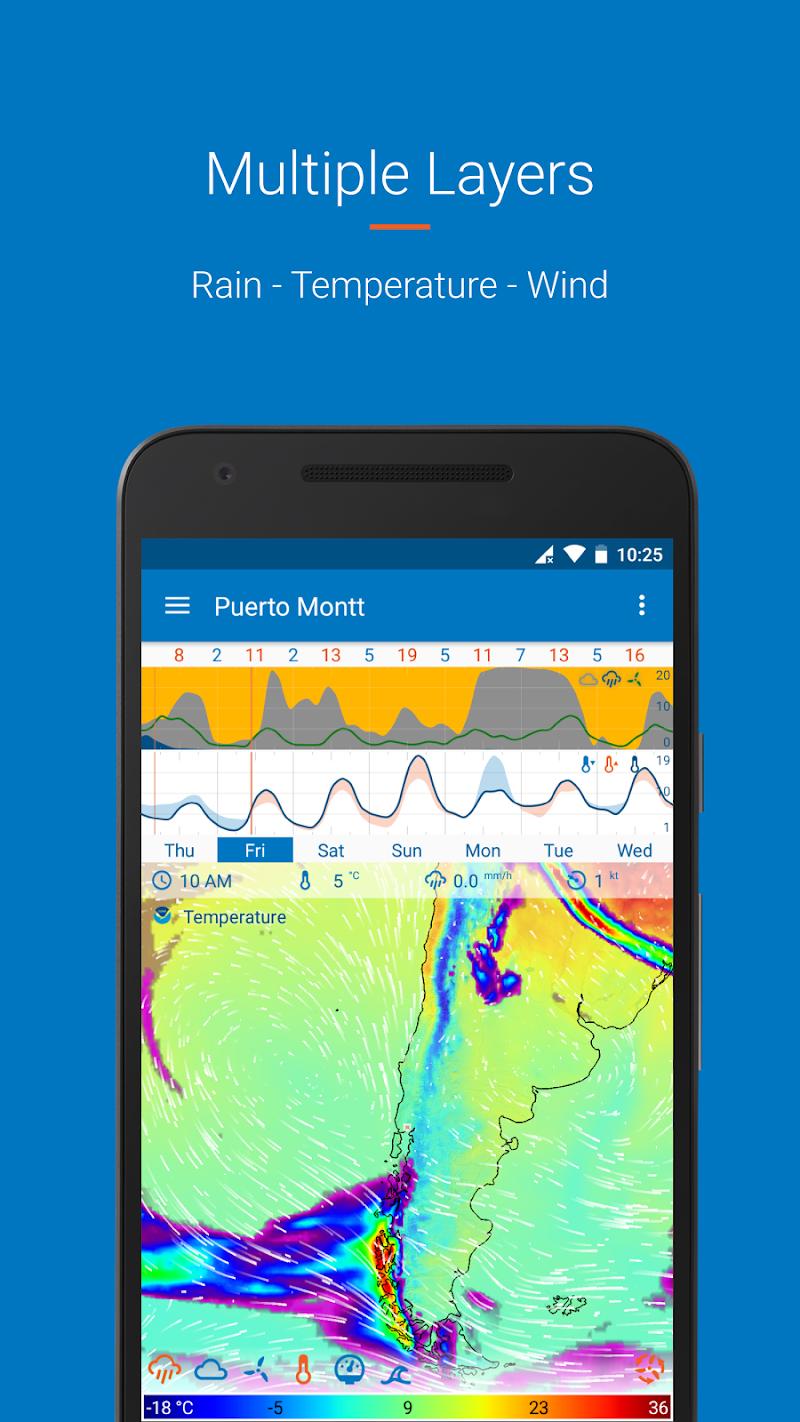 Flowx: visual long range weather forecast Screenshot 2