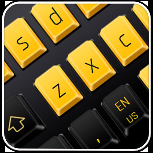 Black Yellow Keyboard