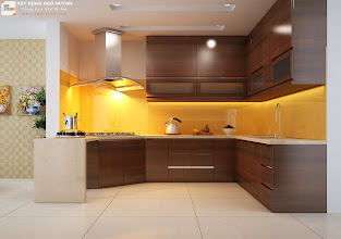 Photo: Phòng bếp (nhìn về khu nấu ăn)