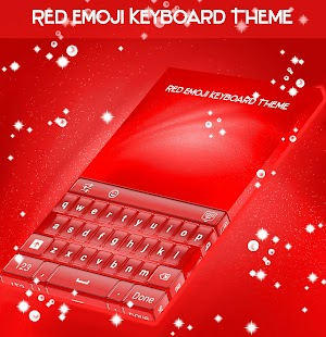 Red Emoji Keyboard Theme - náhled