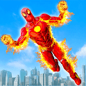 Flying Fire Hero Transform Robot Games icon