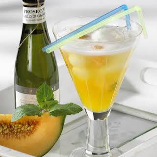 Passion Fruit, Melon and Lemon Sorbet Fizz.