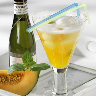Passion Fruit, Melon and Lemon Sorbet Fizz.