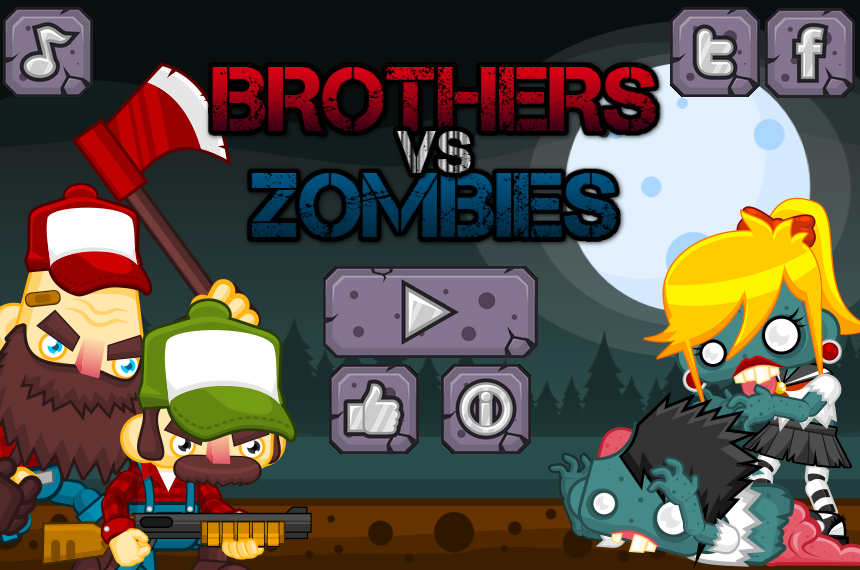 Brothers Vs Zombies- screenshot