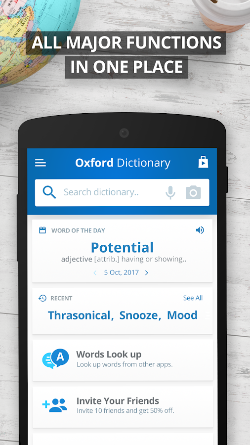 Oxford Dictionary of English Free- screenshot