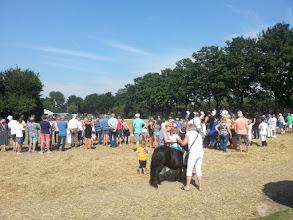 Photo: Het publiek kijkt naar een demonstratie van de ruitervereniging.