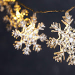 Snowflake Christmas string lights