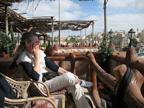 Photo: 13 Apr.: On the roof of the hotel with a view of the Old City and the Temple Mount
