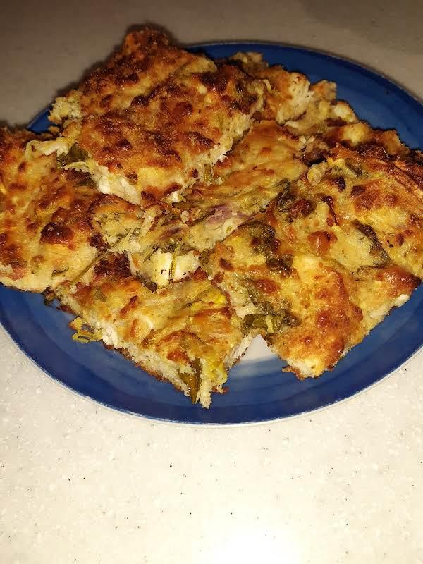 Portions Of Sfougato (zucchini Pie)
