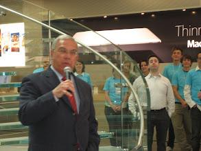 Photo: Menino says the store created 165 jobs