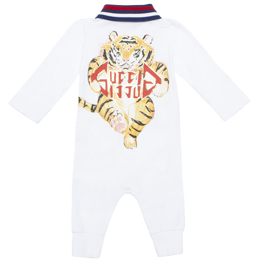 Thumbnail images of Gucci Boys Tiger Babygrow