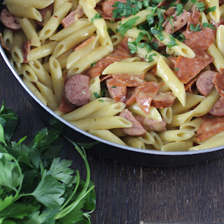Sausage Pepperoni Penne.