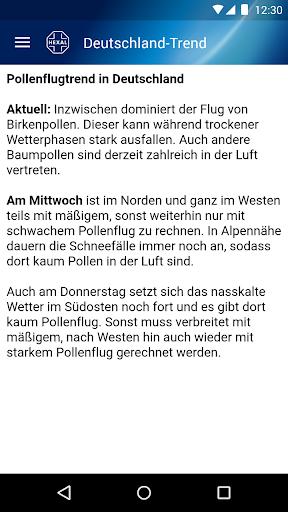 Pollenflug-Vorhersage 2.7 screenshots 6