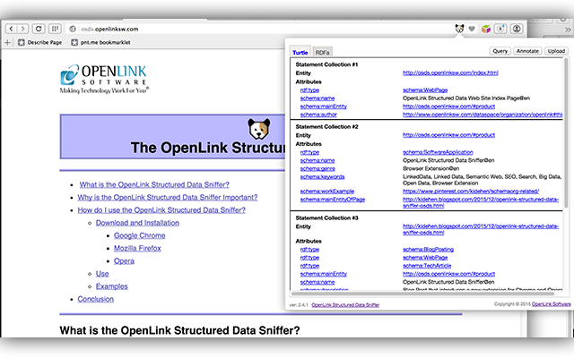 OpenLink Structured Data Sniffer