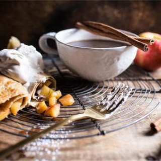 Apple Pie Crepes with Pumpkin Spice Whipped Mascarpone.