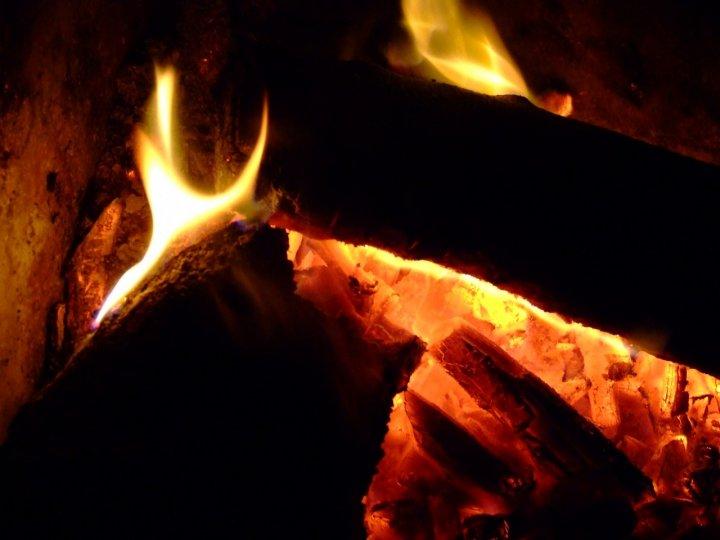 Il calore del focolaio di besma