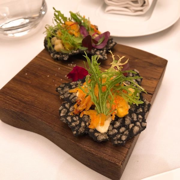 THOMAS.簡 法式餐廳 餐點:玉米櫻花蝦米餅