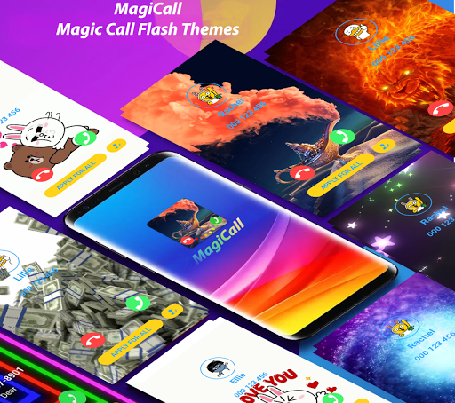 MagiCall - Color Phone Call Screen Theme LED Flash Screenshots 1