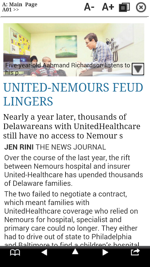 The News Journal Print Edition- screenshot