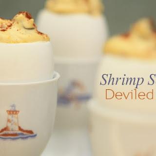 Shrimp Scampi Deviled Eggs