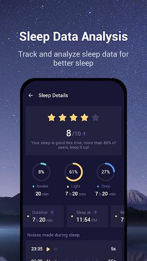 Sound Sleeper - Sleep Cycle Tracker, Snores, Music  screenshots 2