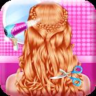 Moda, trança, penteados, salão-Jogos para meninas icon