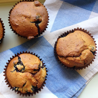 Blueberry, Almond and Chia Muffins.