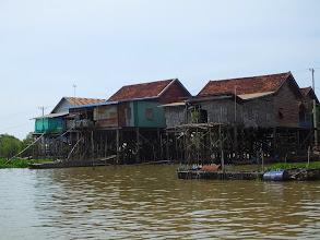 Photo: Stilt homes on the Tonle Sap