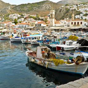 Hydra by Bill Frank - City,  Street & Park  Historic Districts ( greece, travel, greek islands, hydra, travel photography, travel locations )