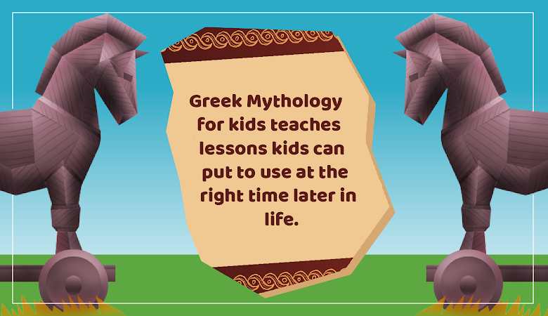 greek mythology for kids trojan horse