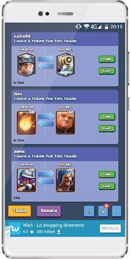 Cards Trade Center for Clash Royale 1.1 PC u7528 1