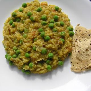 Yellow Split Peas Khichdi / Mator Dal Khichudi