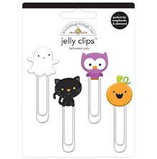 Doodlebug Jelly Clips 4/Pkg - Halloween Pals
