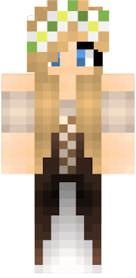 cute medieval girl skin blonde