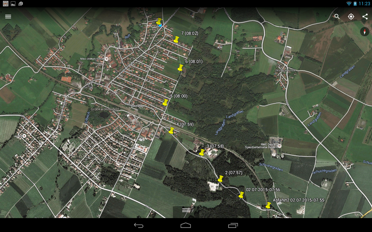 GPS Time Tracker - Logbook- screenshot