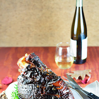 Grilled Whole Ham with Riesling-Apricot Glaze