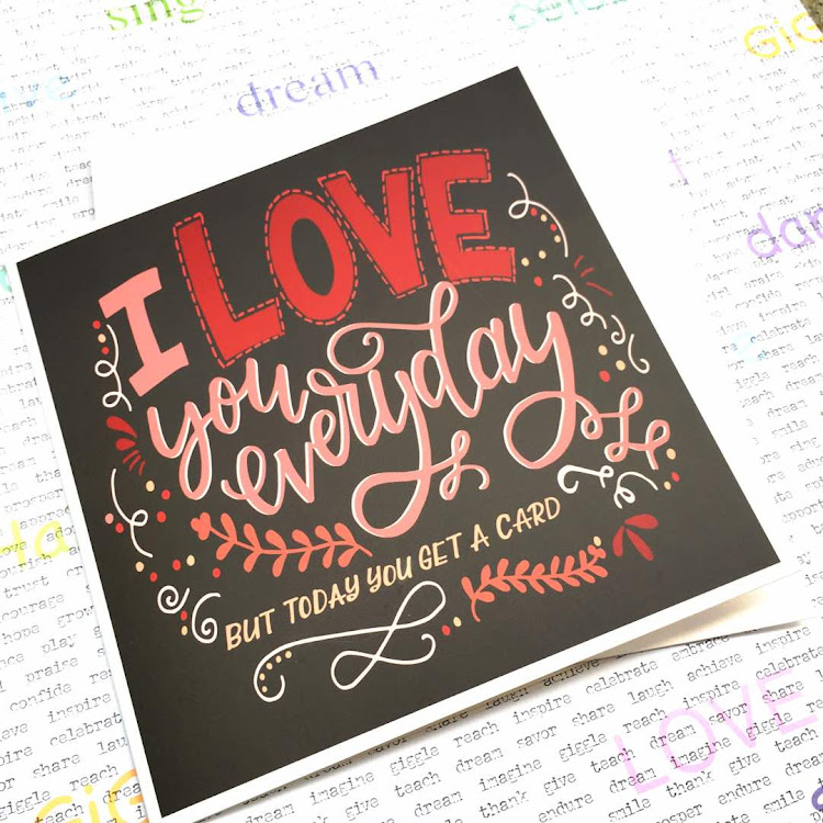 I love you everyday, but today you get a card by Emma5