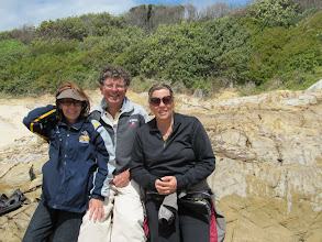 Photo: Year 2 Day 169 -  Marie, Alan and Dee on Dalmeny Beach #2