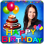 Name Photo on birthday cake: Photo Frames, wishes APK icon
