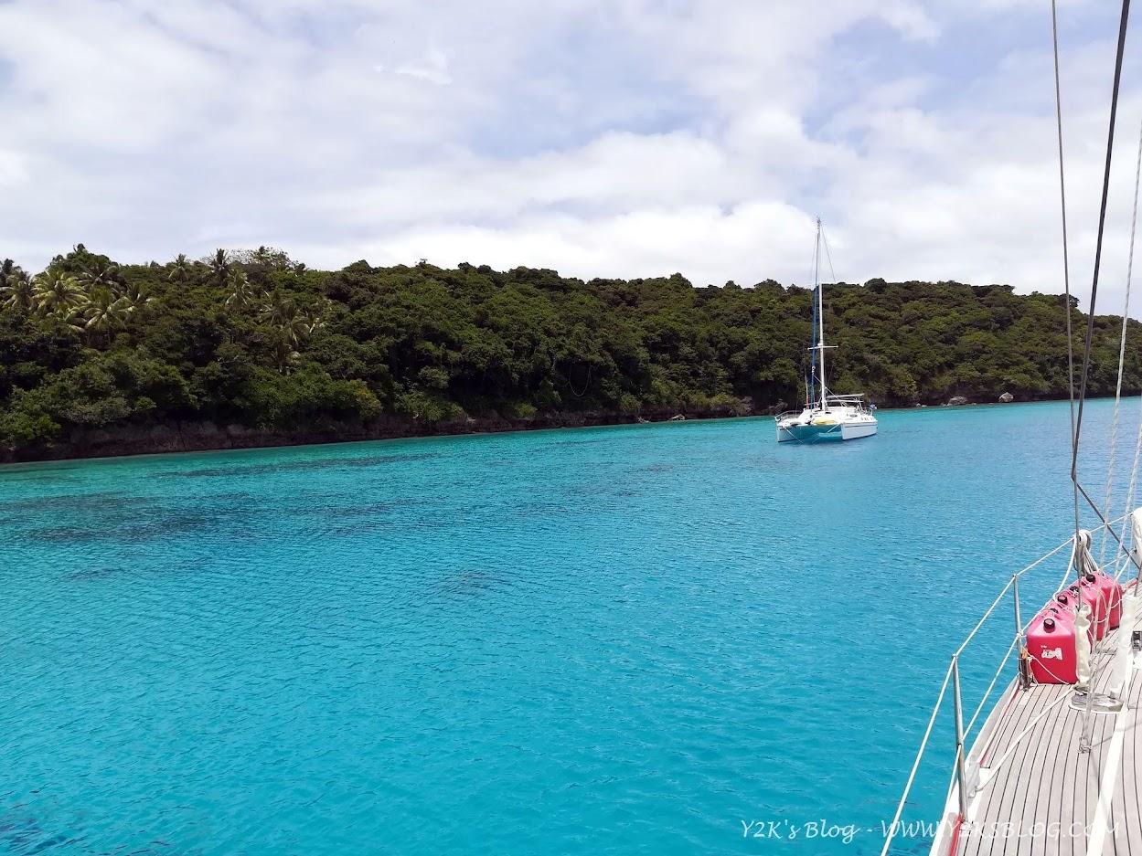 Alla boa a Port Maurelle con il catamarano Aloha - Vava'u