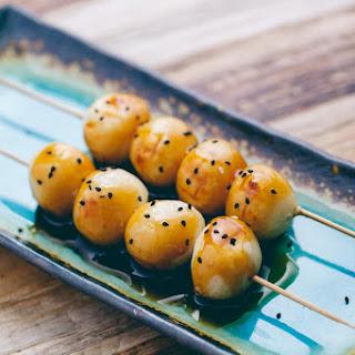 Mitarashi Dango (Vegan + Gluten-Free).