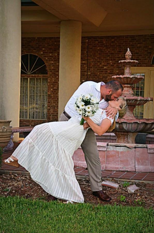 The kiss by Brenda Shoemake - Wedding Bride & Groom