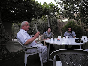 Photo: talking with Salim Kako, the parlamentarian from The Assyrian Democratic Movement Party, Ainkawa, Hawler
