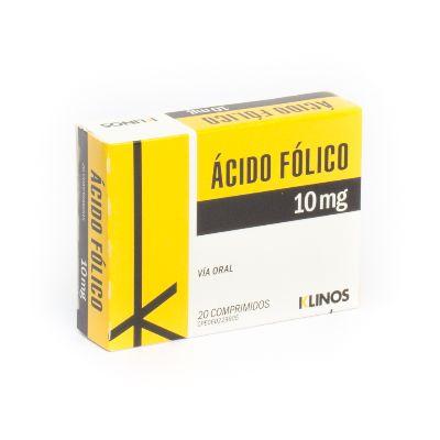 Acido Fólico Klinos 10 Mg X 20 Comprimidos Klinos