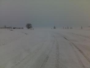 Photo: Weer sneeuw, nu met harde wind.