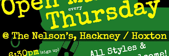 UK Open Mic @ The Nelson's in Hackney / Hoxton / Bethnal Green on 2019-08-29