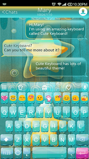 Bubble Star Emoji Keyboard