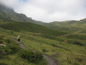 Photo: Today we walk to Mannlichen ( 7,306 ft.), which, surprisingly, is almost 2000 feet higher than Berghaus Baregg.