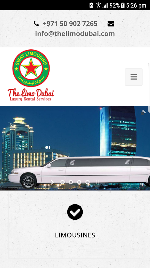 The Limo Dubai .- screenshot