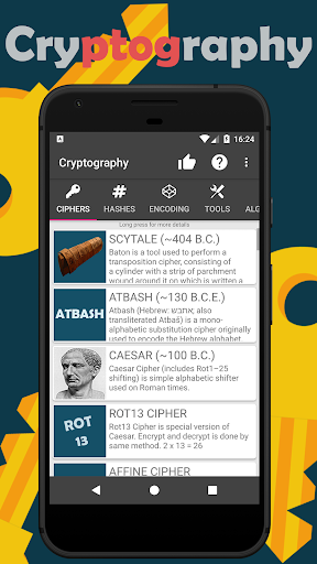 Cryptography - Collection of ciphers and hashes by Nitramite